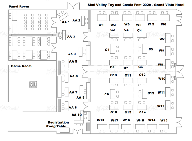 Simi Valley Toy and Comic Fest Floor Plan